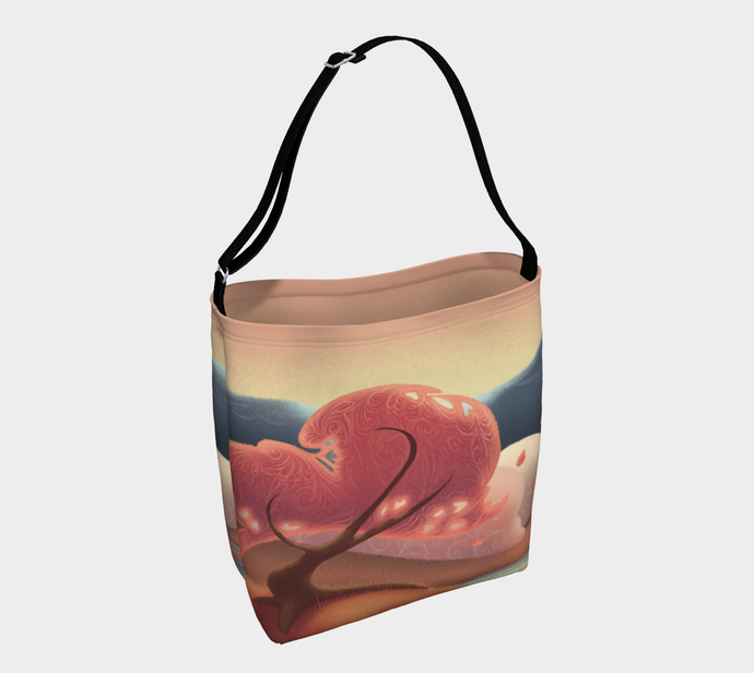 Pink Leaves Tote