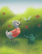 "Load image into Gallery viewer, Illustration- ""The Gardener's Friend"""