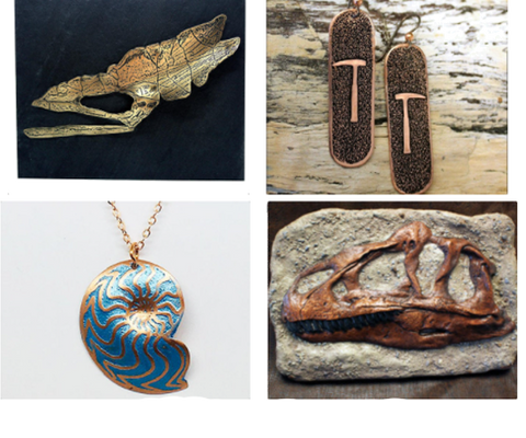 Scientifiques dinosaur jewelry