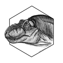 Load image into Gallery viewer, Tyrannosaurus rex pencil portrait