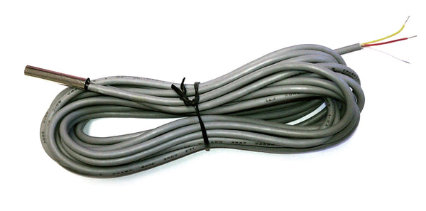1WT_6SSP_1_1m_3w: 1-Wire Temperature sensor with stainless steel probe & 1m long, 3-wire cable.