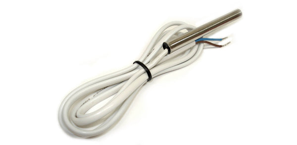 1WT_8SSP_3_RGD_1m_2w: Rugged 1-Wire Temperature sensor with 3in long stainless steel probe and 1m long, 2-wire cable.