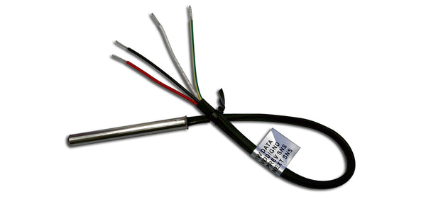 1WT_8SSP_3_SEQ_30cm_4w: Sequenced 1-wire temperature sensor with 3 inch stainless steel probe.