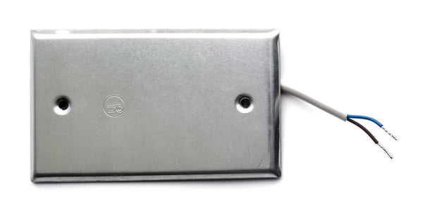 1WT_RM_FLAT_10cm_2w: Stainless Steel Flat Plate Tamperproof 1-Wire Room Temperature sensor