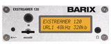 Barix Exstreamer-120:  IP-Audio Decoder with LCD Display and Micro SD slot.