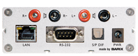 Barix Exstreamer-200:  IP-Audio Decoder with built-in amplifier.