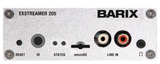 Barix Exstreamer-205:  IP-Audio Decoder with built-in amplifier, Micro SD slot, and Line-Input for playback of local sources.