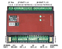 Barix io12: 12-channel digital input & 12-channel digital output slave Modbus I/O device