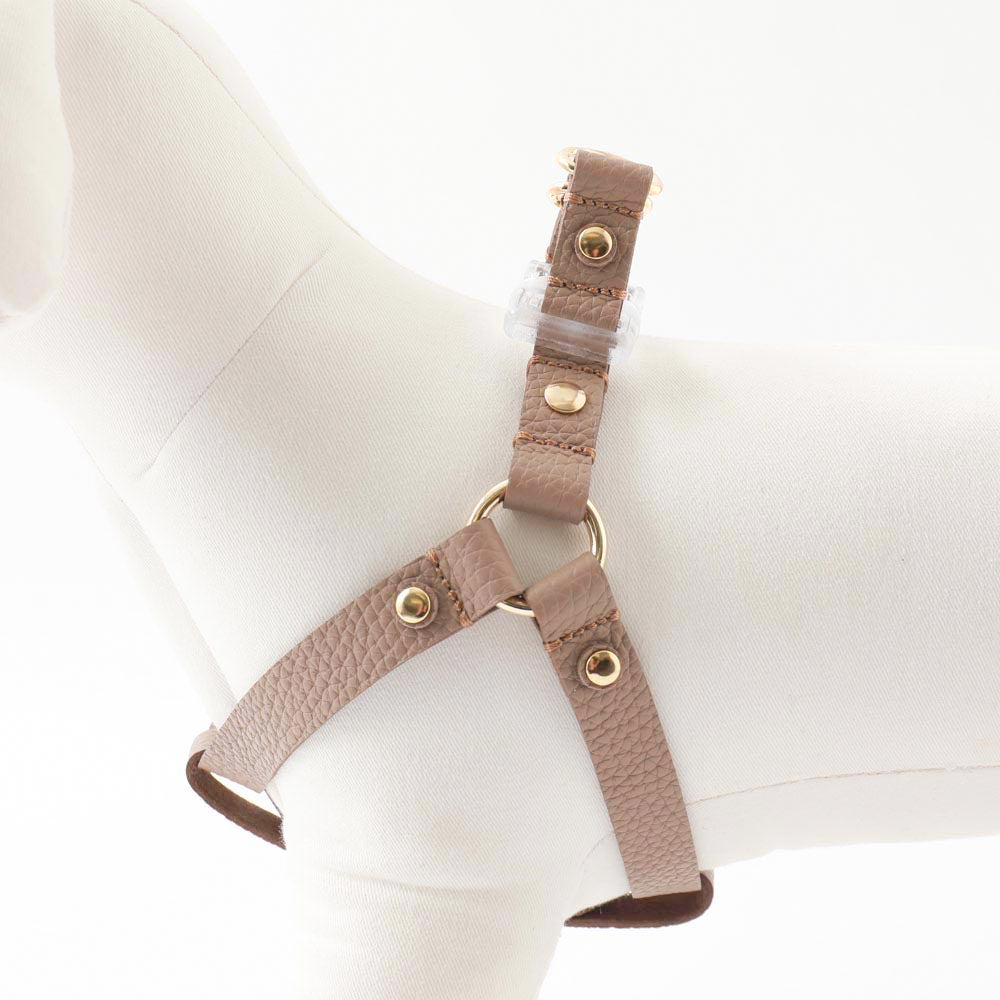 Shrink leather harness