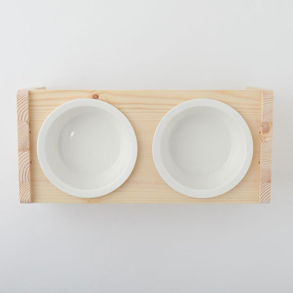 Double feed bowl stand