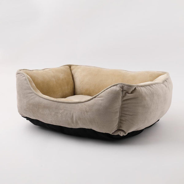 Suede cushion bed