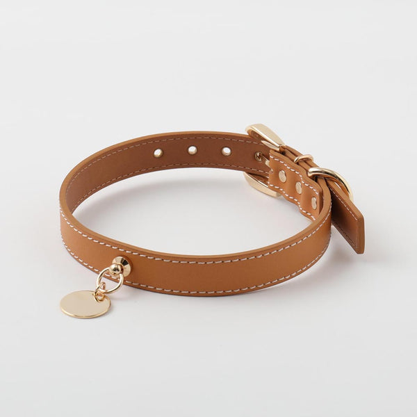 Circle charm leather color LARGE