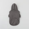 Color scheme drawstring back brushed hoodie