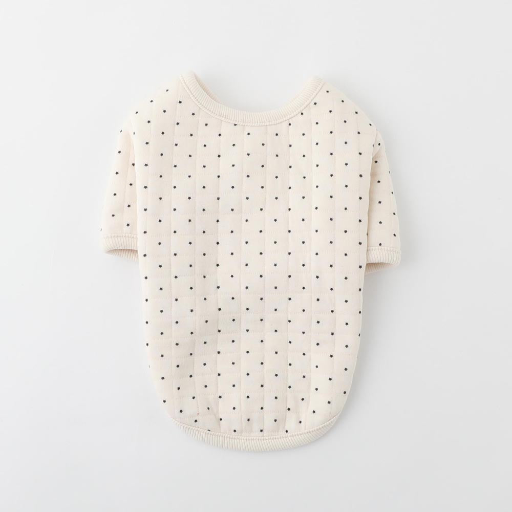 Star dot quilted jacket