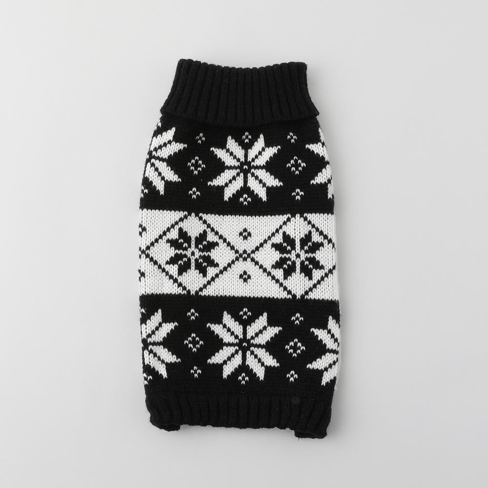 Nordic pattern knit top