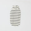 Striped high-neck rib top