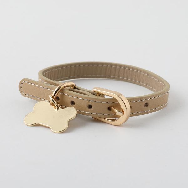 Bone charm leather color SMALL