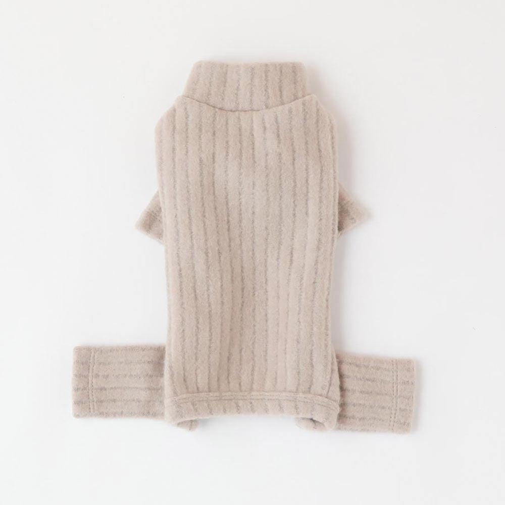Rib knit color rompers