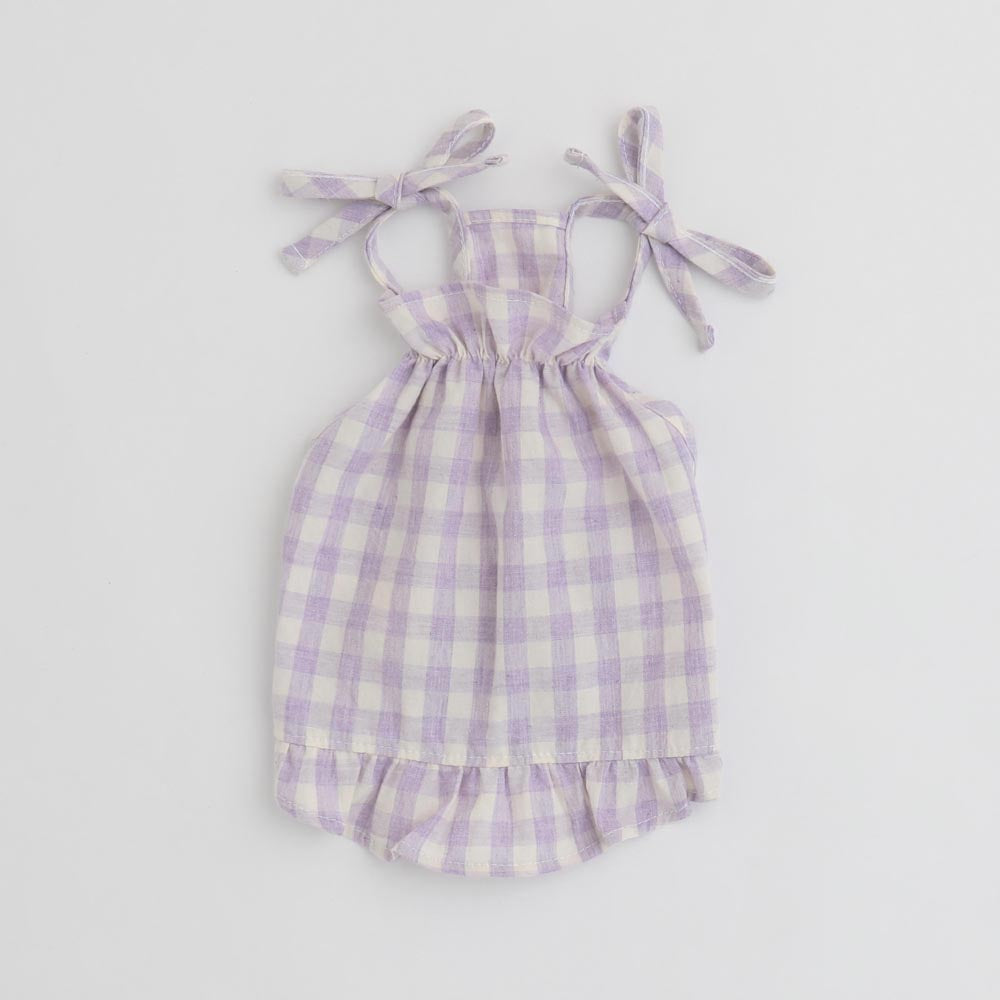 Gingham Check Caman Peace