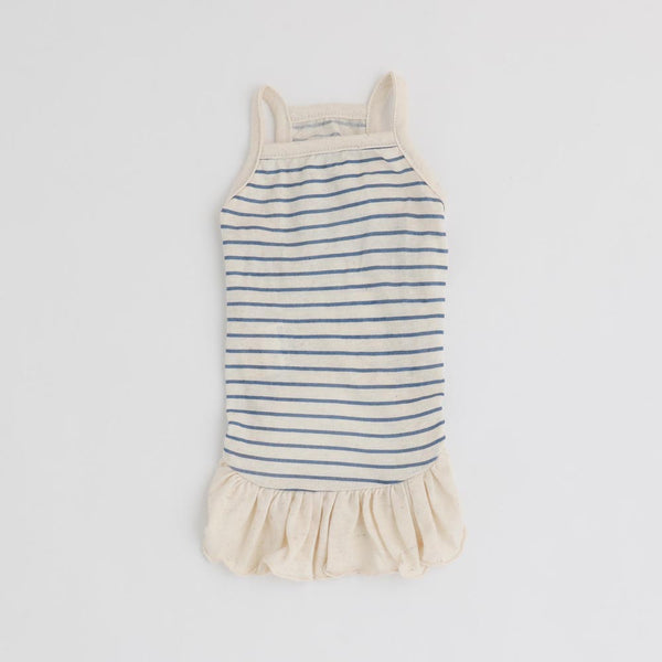Border Piping Ruffle Cami Dress