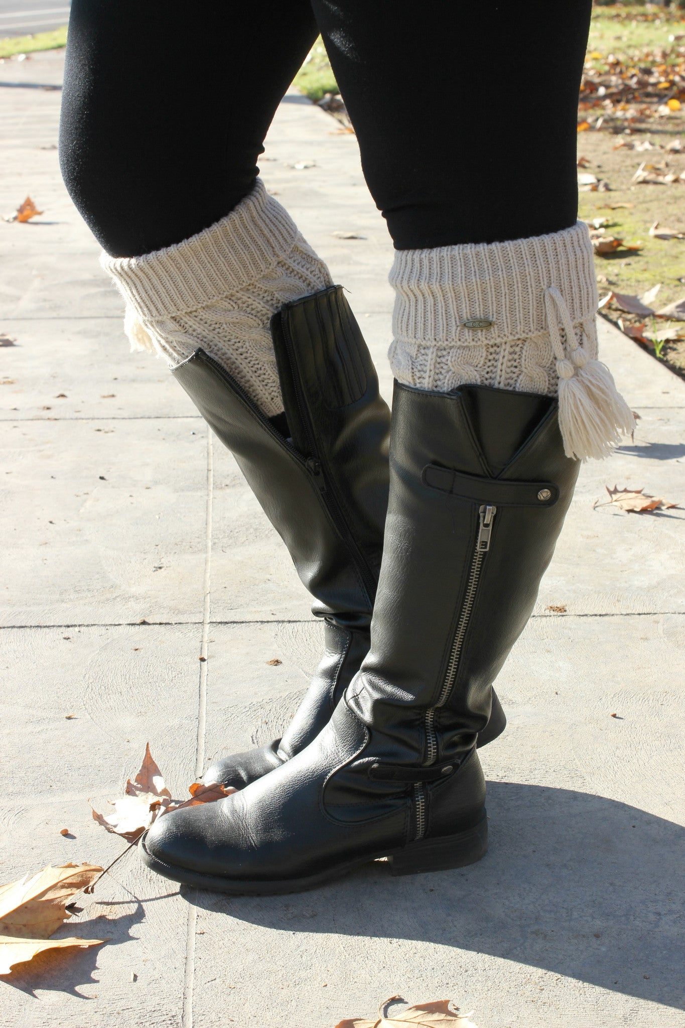 Time To Go Boot Cuffs - Leah B. Boutique