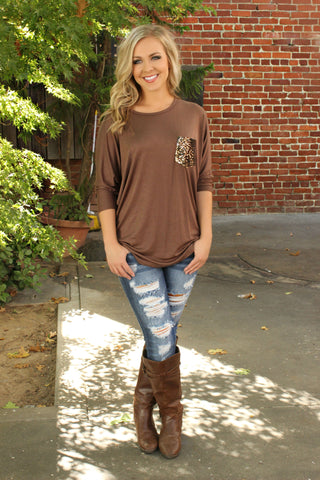 Spiced Cider Blouse- Cinnamon