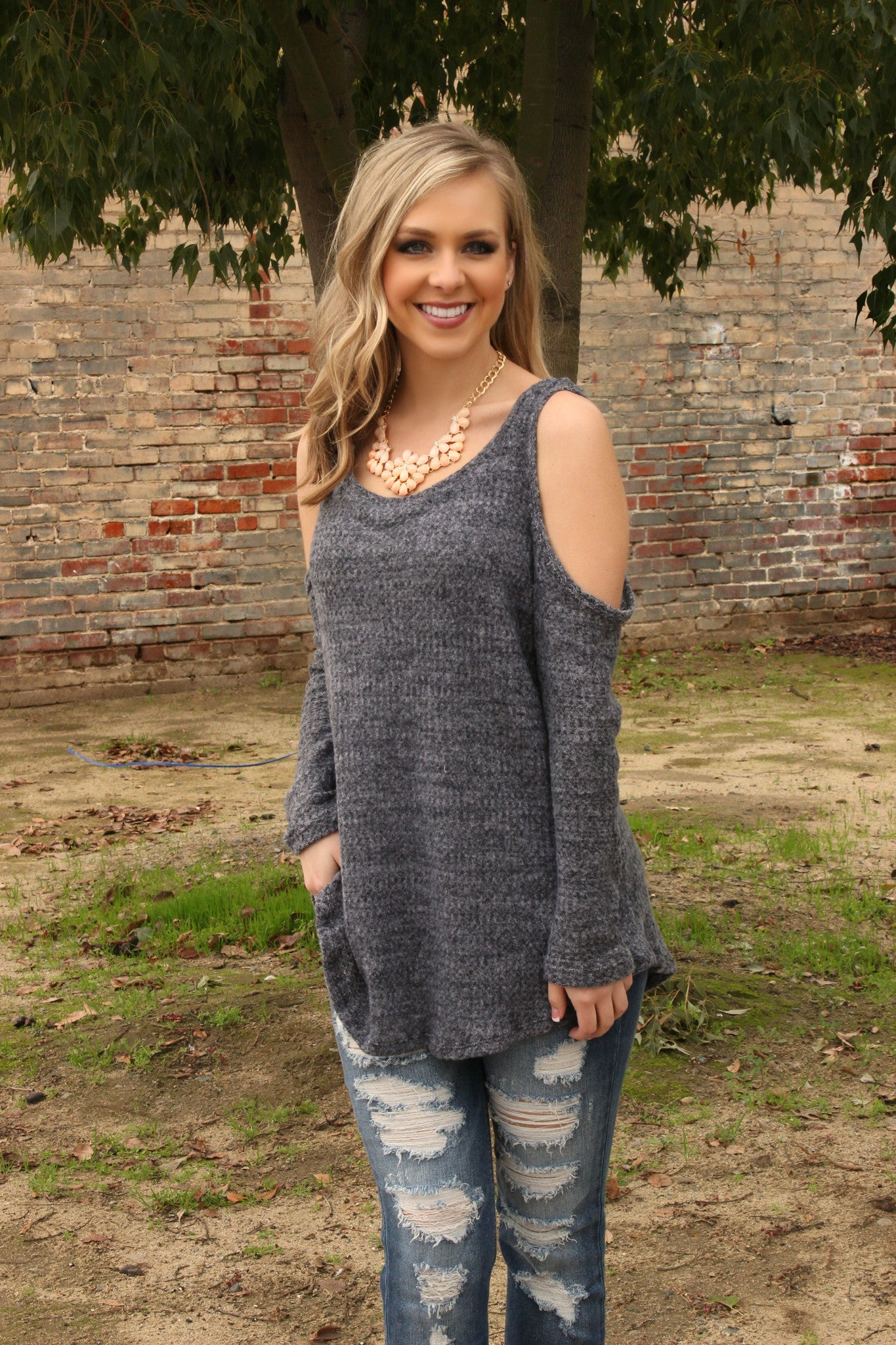 One Call Away Sweater - Leah B. Boutique