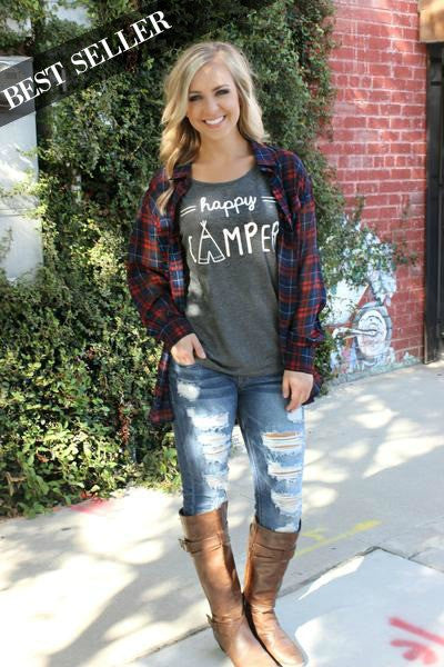Happy Camper Tee - Leah B. Boutique