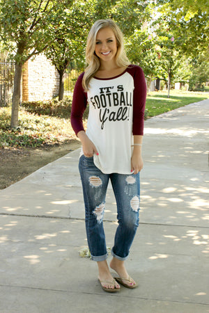 Football Y'All Tee - Leah B. Boutique