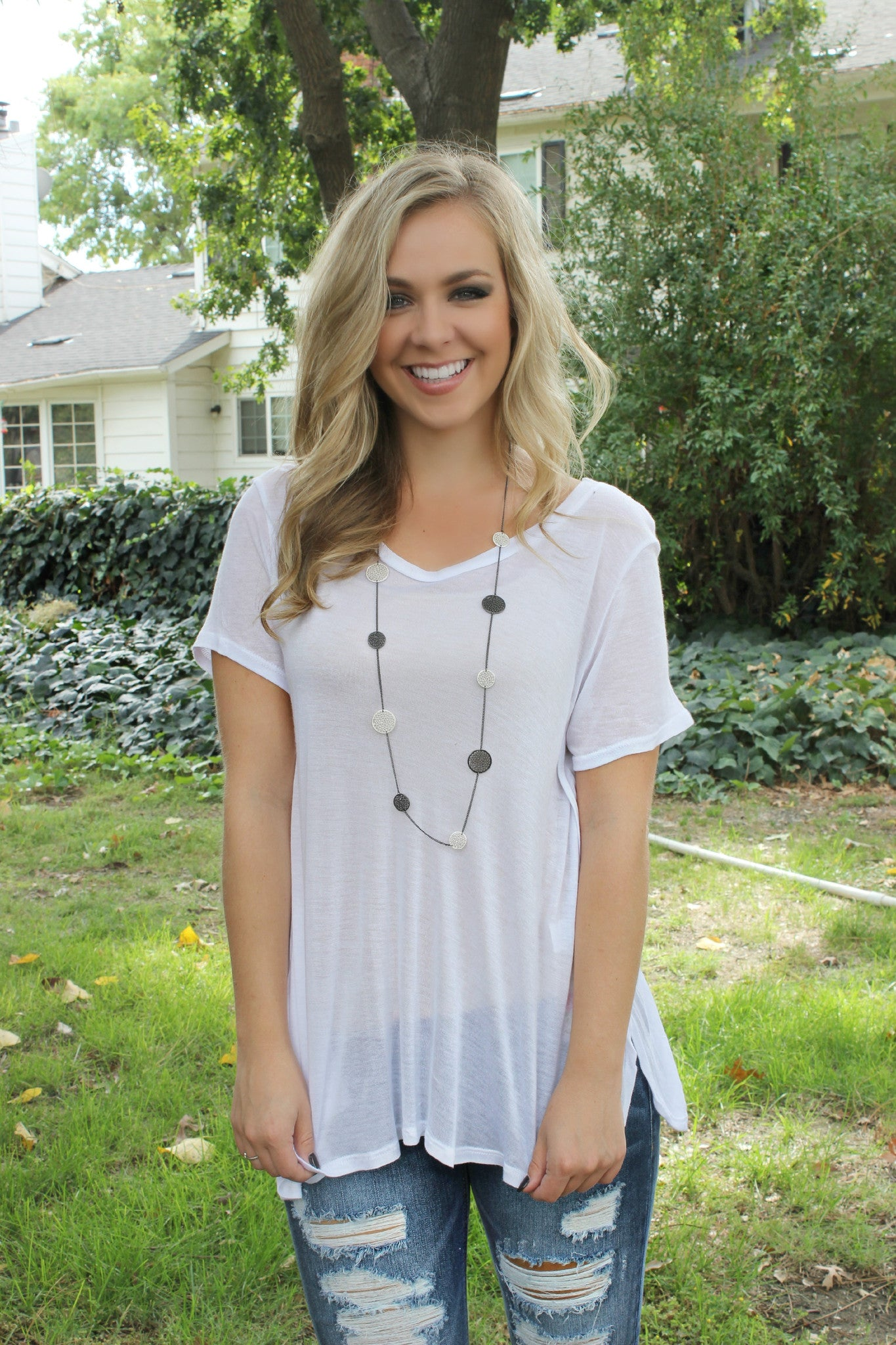 Who's With Me Blouse - Leah B. Boutique