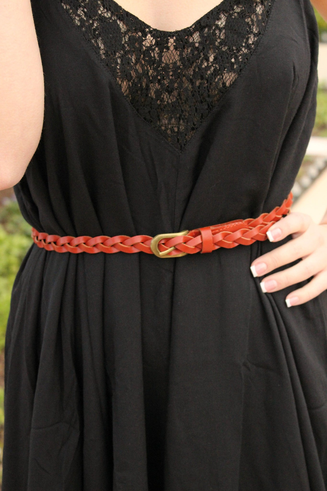 Buckle Up Belt- Brown - Leah B. Boutique