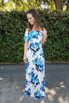 The Blue Magnolia Dress - Leah B. Boutique