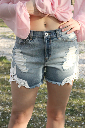 Blossom Fields Shorts - Leah B. Boutique