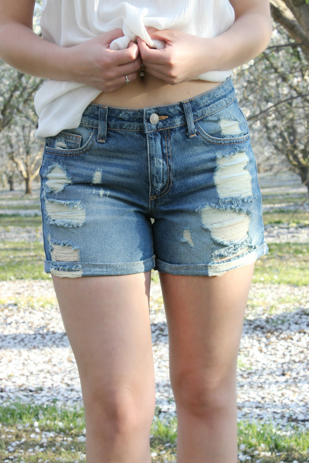Walk in the Park Shorts - Leah B. Boutique