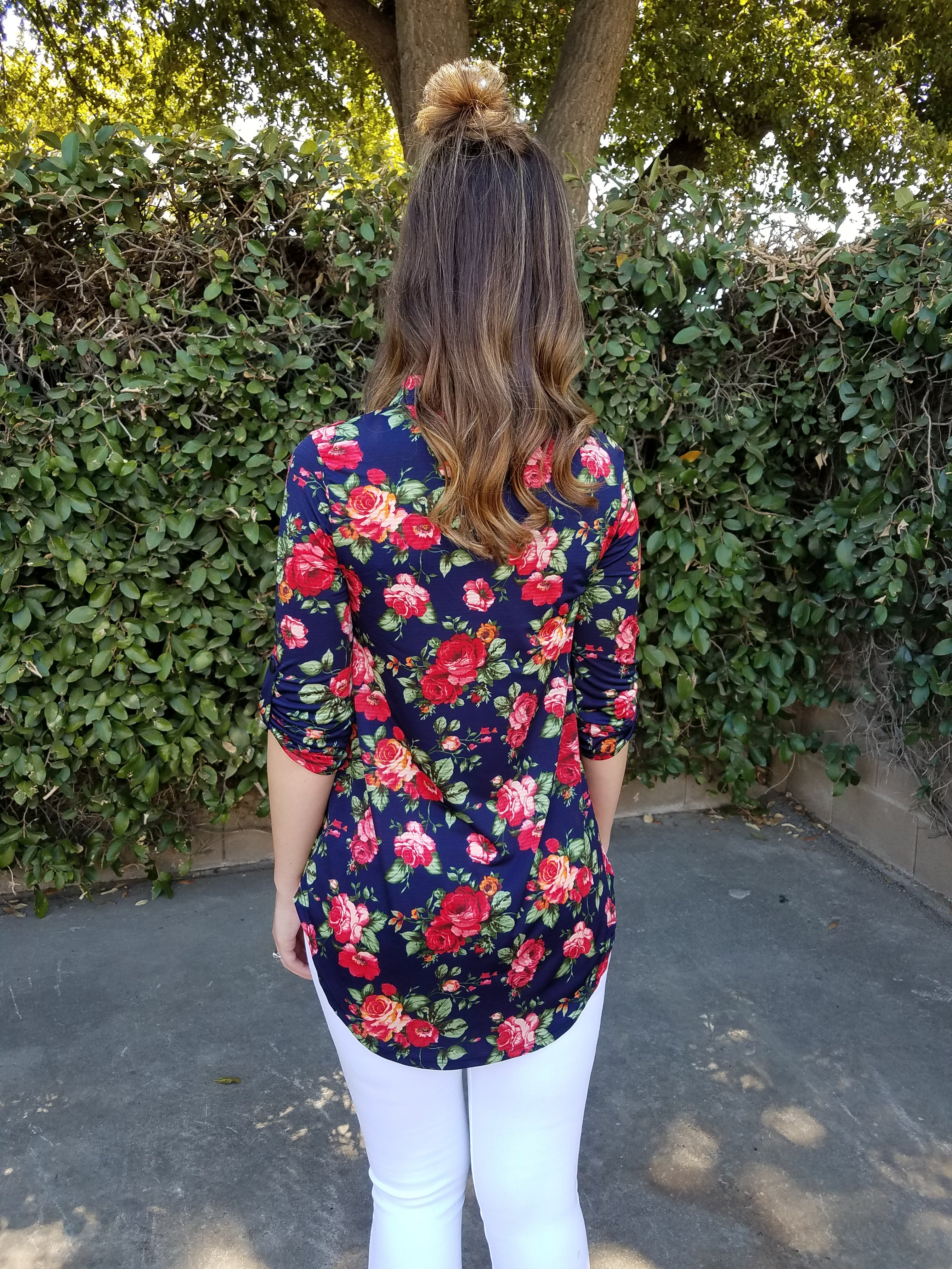 In Bloom Blouse - Leah B. Boutique