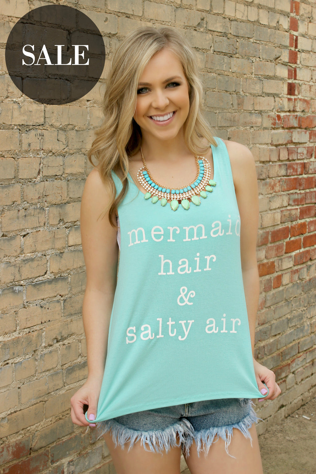 Mermaid Hair & Salty Air Tee - Leah B. Boutique