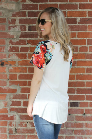 Two Pina Coladas Blouse - Leah B. Boutique