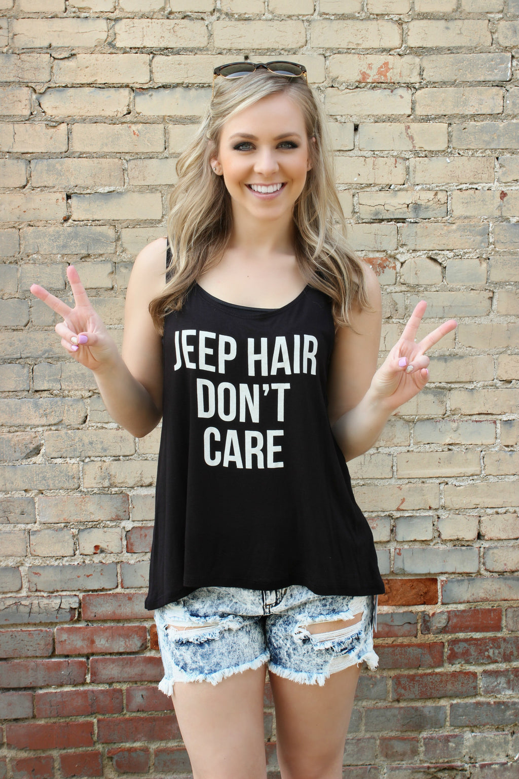 Jeep Hair, Don't Care Tee - Leah B. Boutique