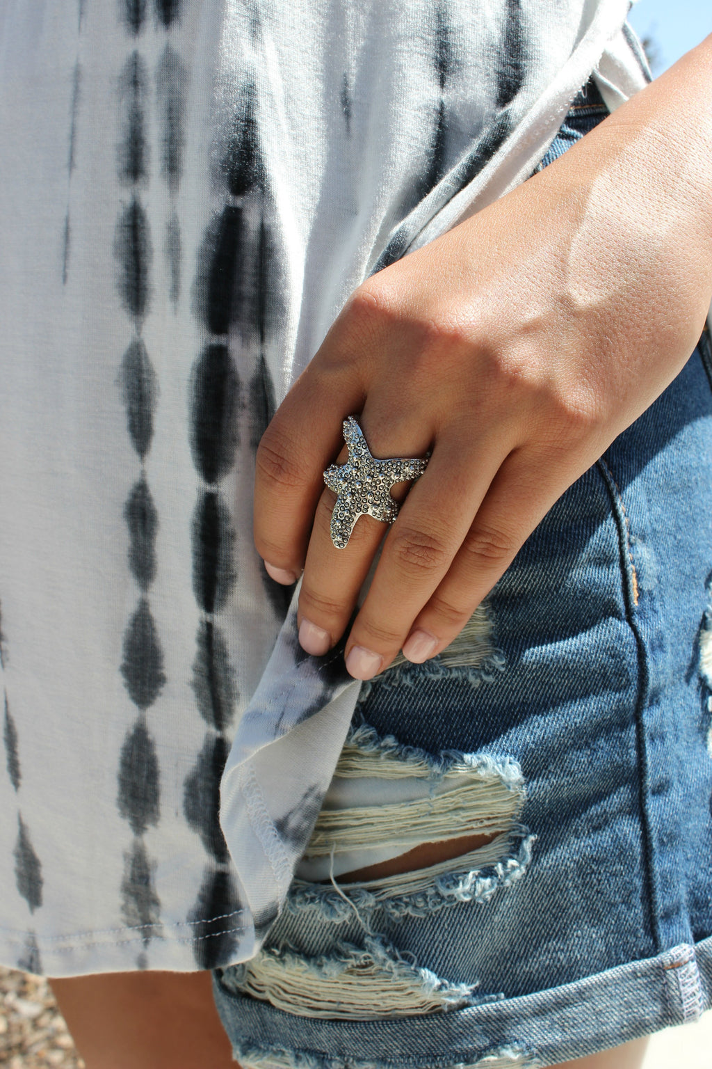 Starfish Ring in Silver - Leah B. Boutique