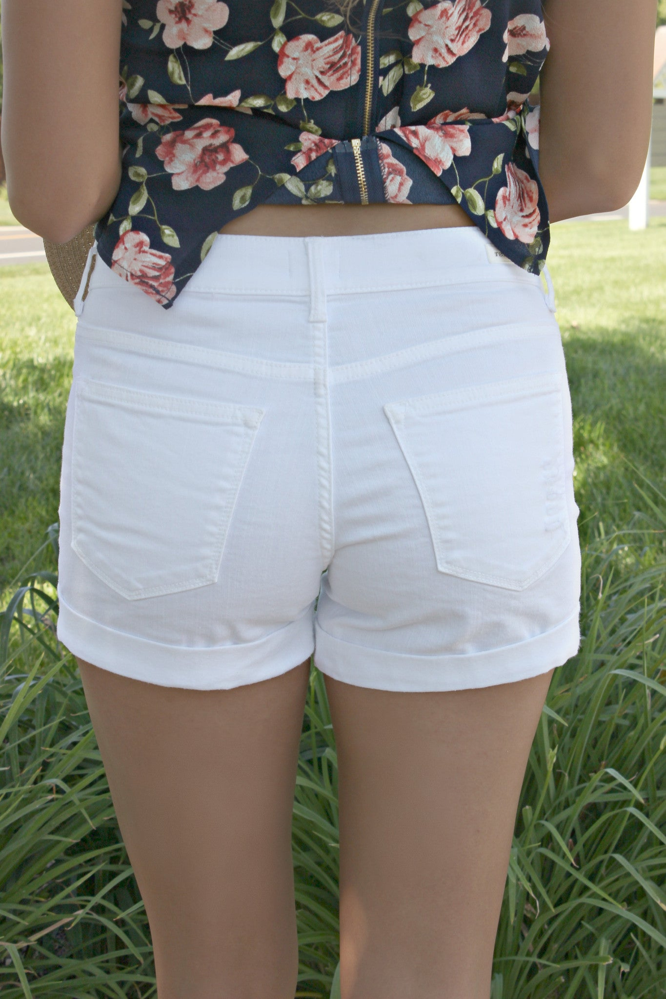Beach Babe Denim Shorts - Leah B. Boutique