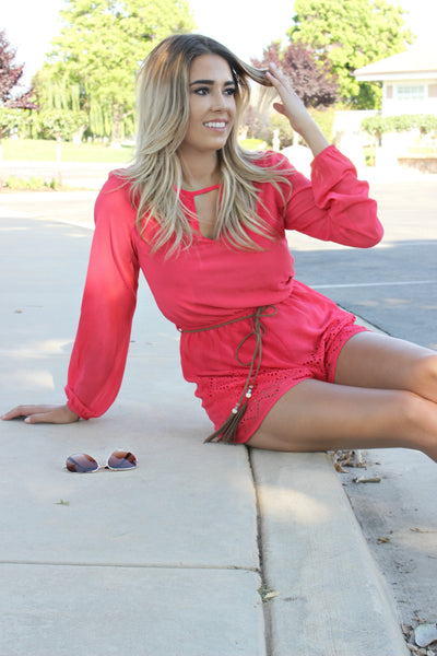 Rose Colored Glasses Romper