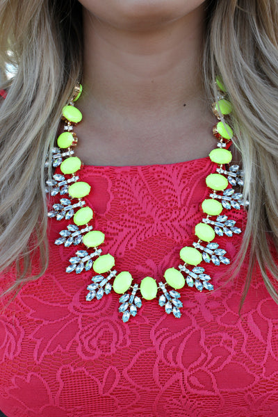 She's Got It Necklace in Neon