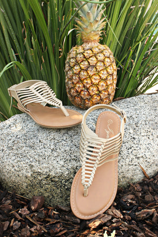 Under the Sun Sandals- Taupe