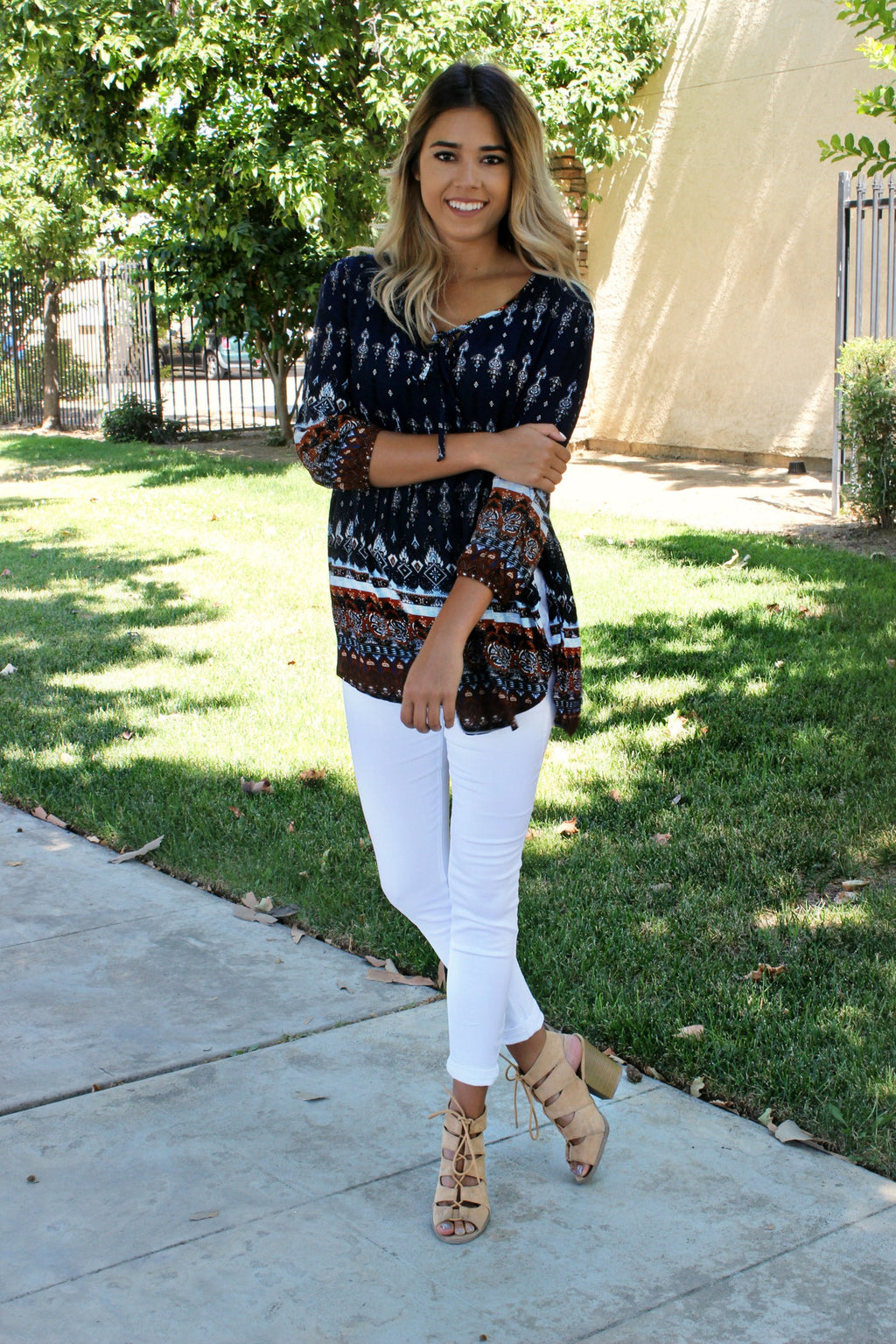 Where We Begin Blouse - Leah B. Boutique