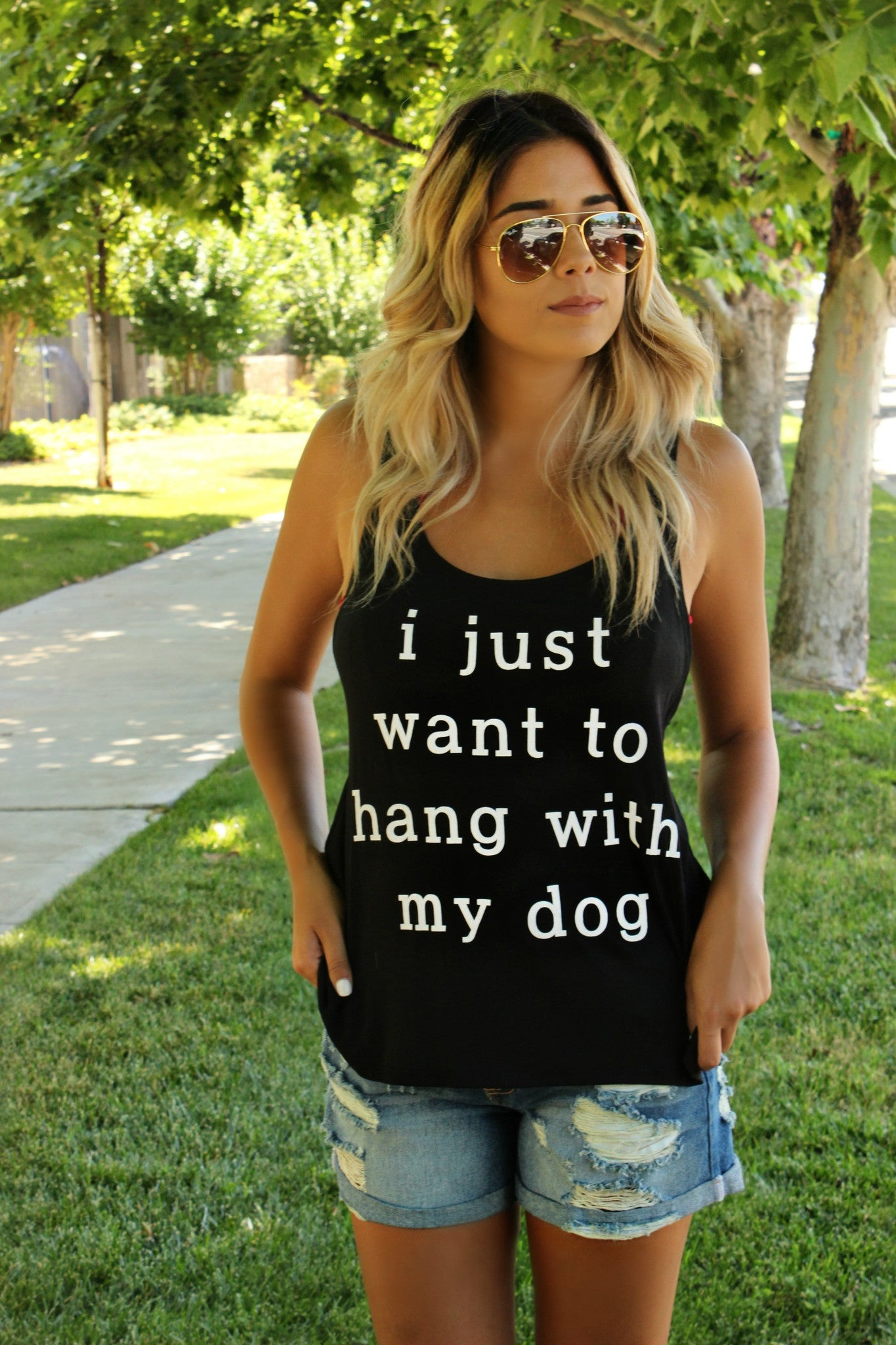 Hang With My Dog Tee - Leah B. Boutique