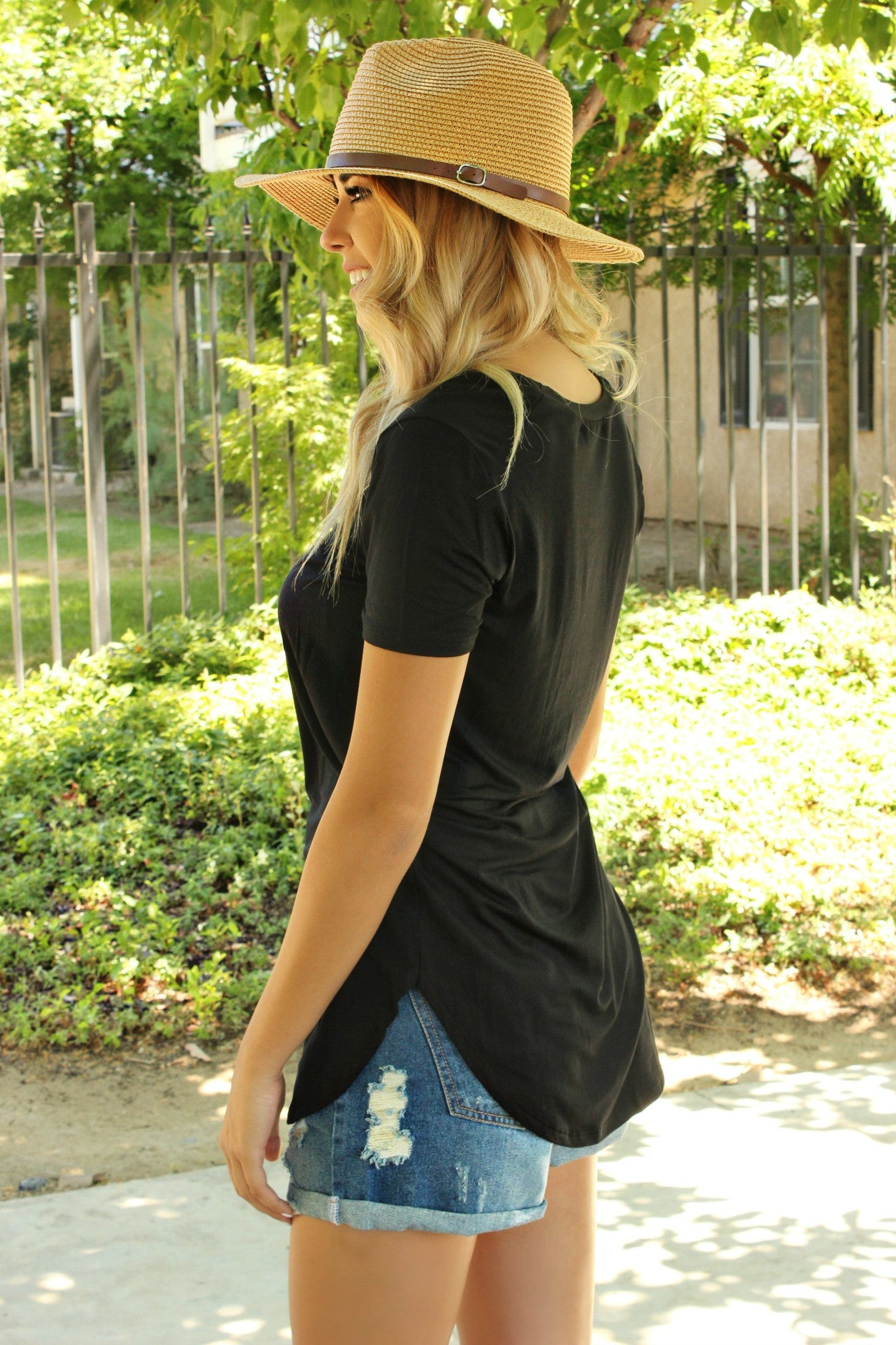 Basic Comforts Tee in Black - Leah B. Boutique