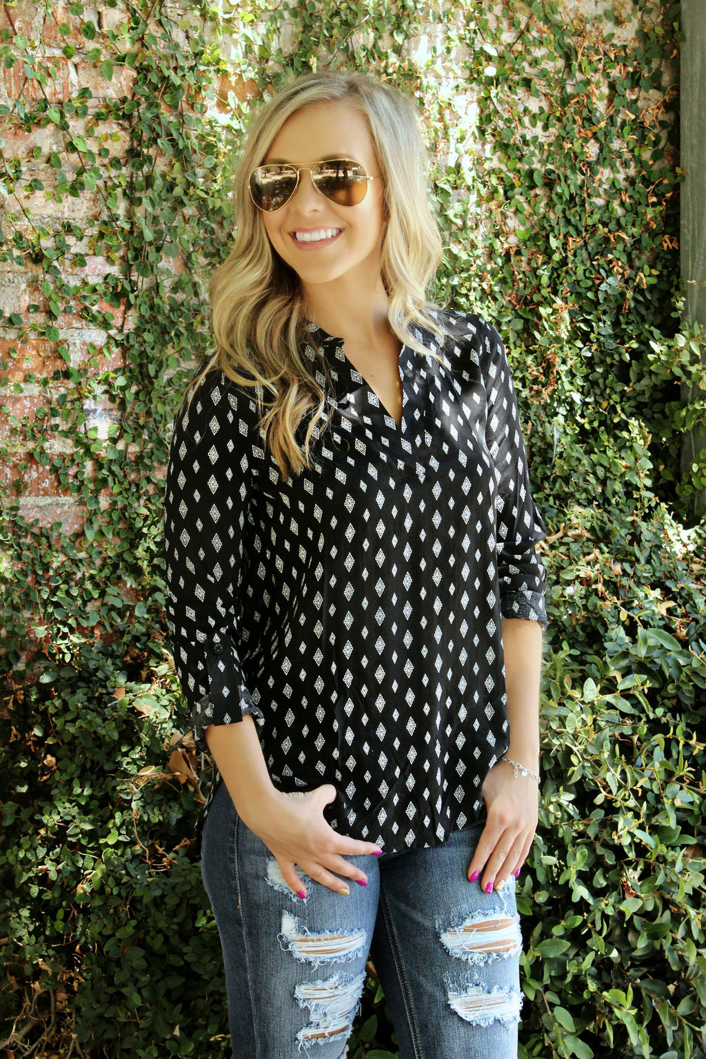 Just Can't Fight It Blouse - Leah B. Boutique