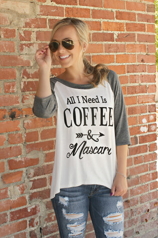 Coffee & Mascara Tee