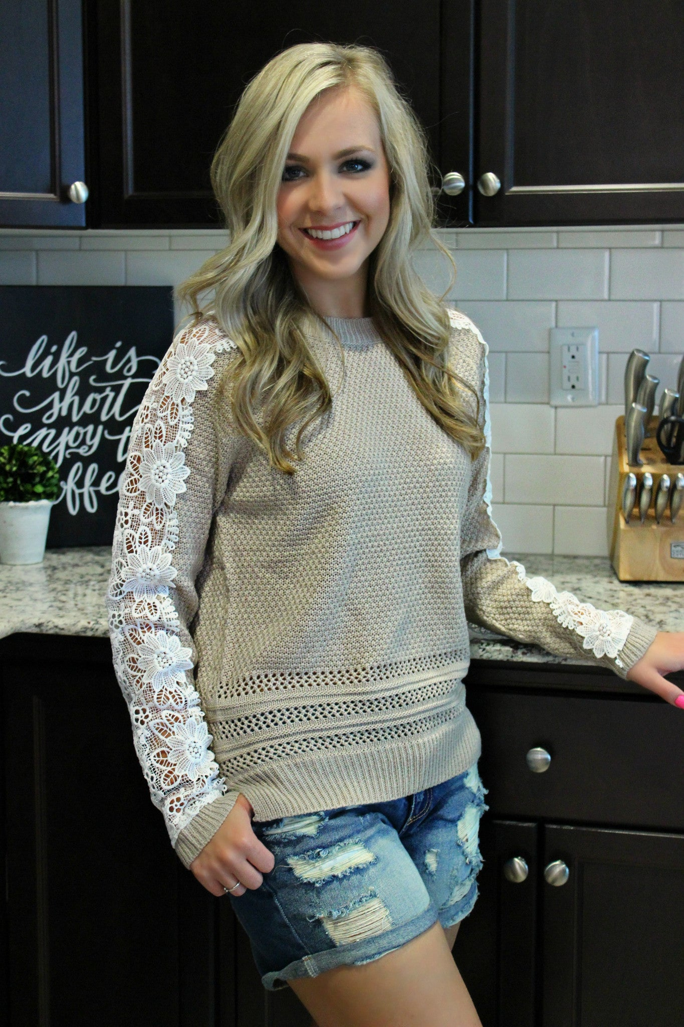Lazy Weekend Sweater - Leah B. Boutique