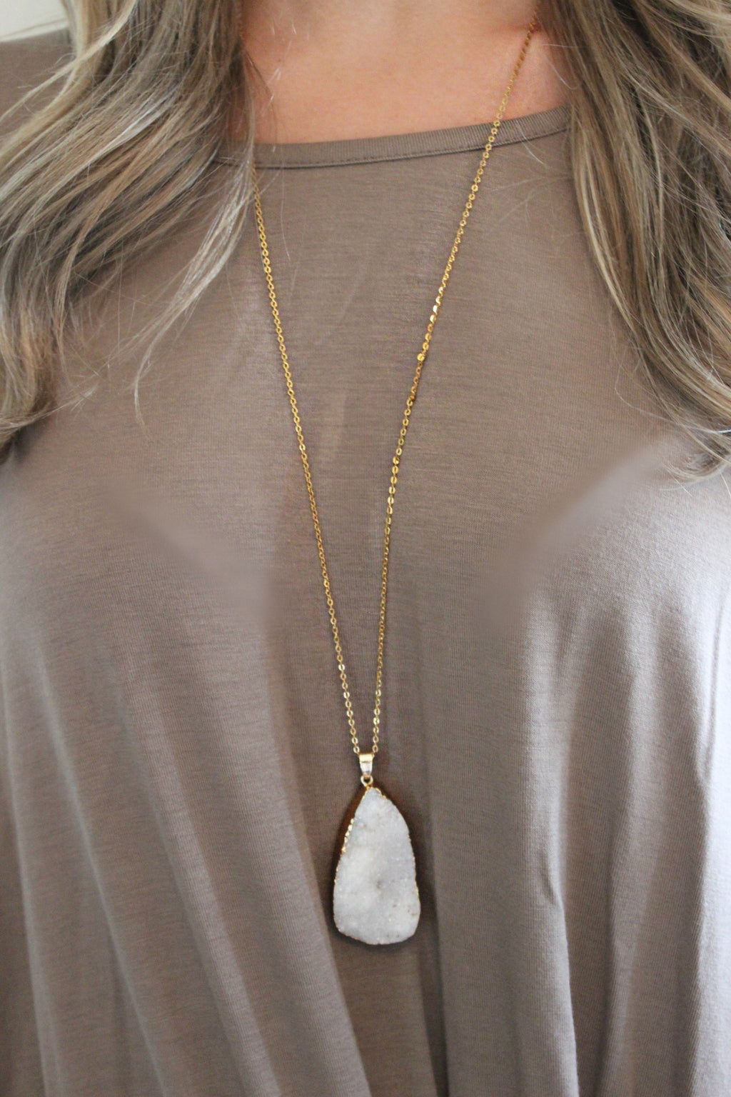 Chip Off the Block Necklace - Leah B. Boutique